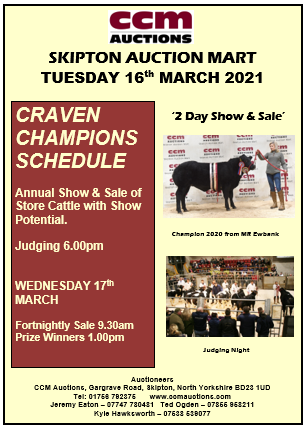 CRAVEN CHAMPIONS - TUESDAY 16TH MARCH 2021